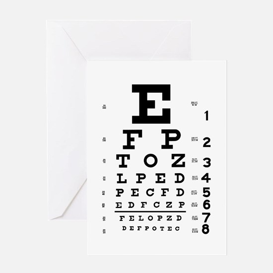 Eye chart gift Greeting Card