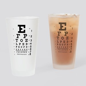 Eye chart gift Drinking Glass