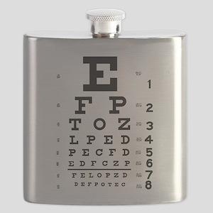 Eye chart gift Flask