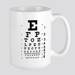 Eye chart gift Large Mug