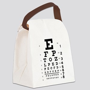 Eye chart gift Canvas Lunch Bag
