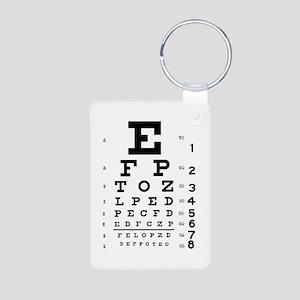 Eye chart gift Aluminum Photo Keychain