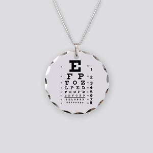 Eye chart gift Necklace Circle Charm
