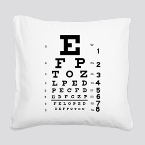 Eye chart gift Square Canvas Pillow