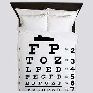 Eye chart gift Queen Duvet
