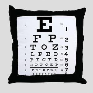 Eye chart gift Throw Pillow