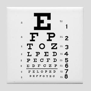 Eye Chart Gift Tile Coaster