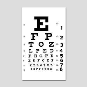 Eye chart gift 20x12 Wall Decal