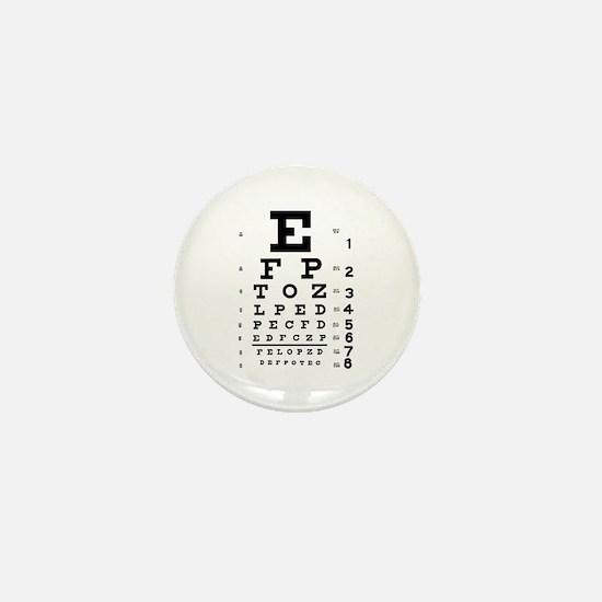 Eye chart gift Mini Button