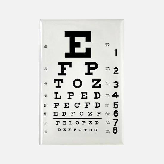 Eye chart gift Rectangle Magnet