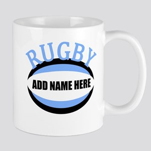 Rugby Name Light Blue Mug
