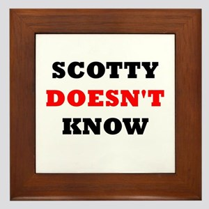 Scotty doesn't know Framed Tile
