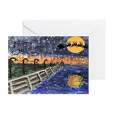 Lake Front with Santa Christmas Cards (6)