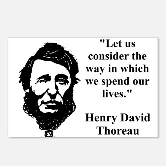 Let Us Consider The Way - Thoreau Postcards (Packa
