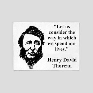 Let Us Consider The Way - Thoreau 5'x7'Area Rug
