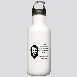 Let Us Consider The Way - Thoreau Water Bottle