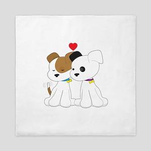 Puppy Couple Queen Duvet