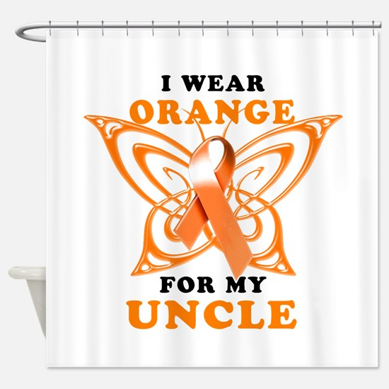 I Wear Orange for my Uncle Shower Curtain