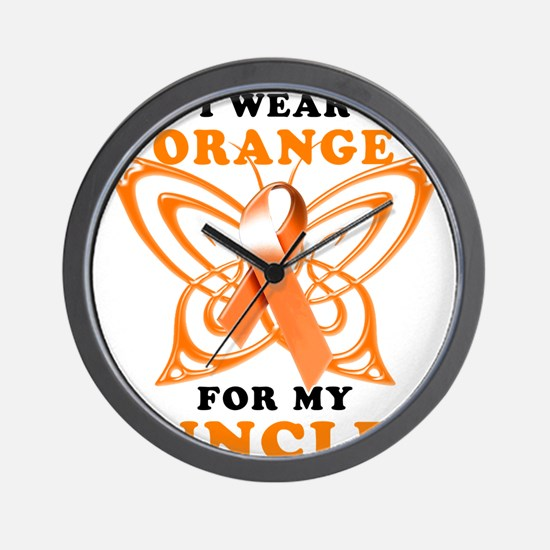 I Wear Orange for my Uncle Wall Clock