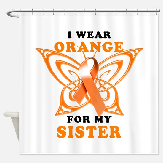 I Wear Orange for my Sister Shower Curtain