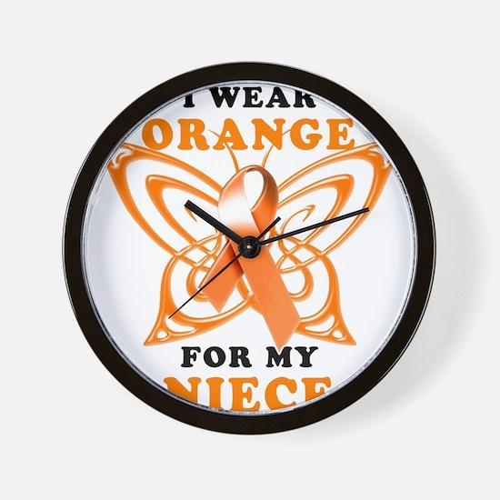 I Wear Orange for my Niece Wall Clock