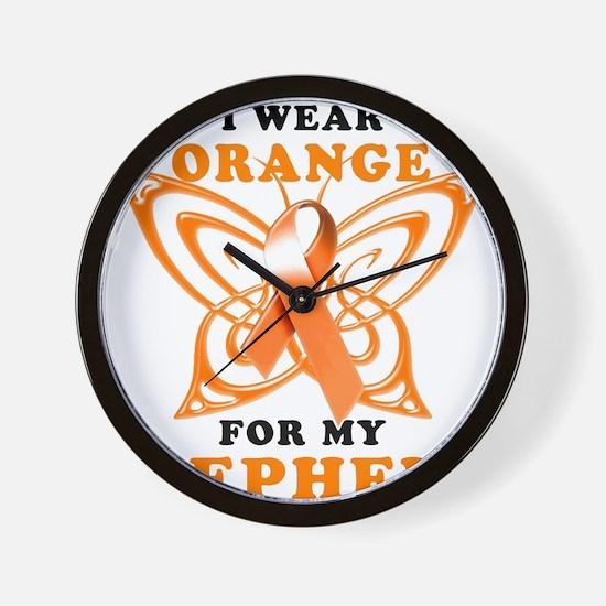 I Wear Orange for my Nephew Wall Clock