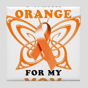 I Wear Orange for my Mom Tile Coaster