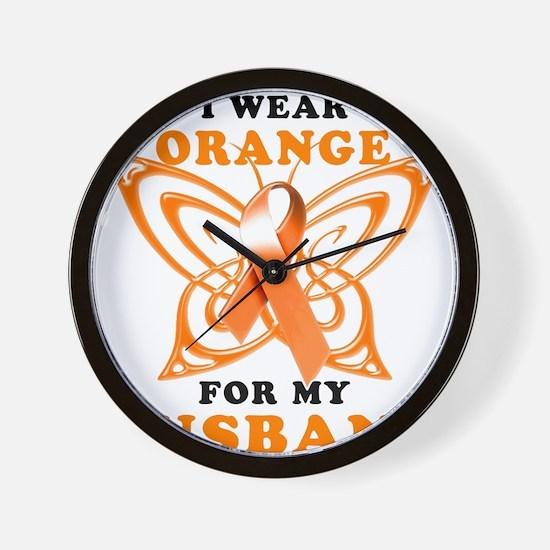I Wear Orange for my Husband Wall Clock
