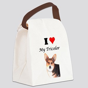 I Love My Tricolor Corgi Canvas Lunch Bag