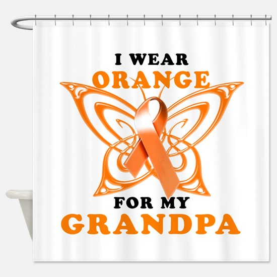 I Wear Orange for my Grandpa Shower Curtain