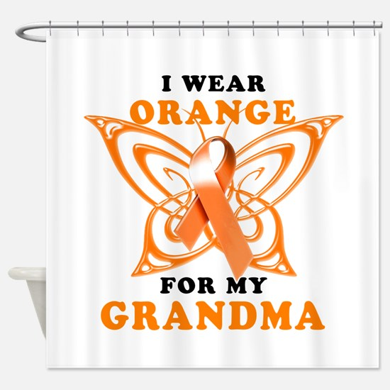 I Wear Orange for my Grandma Shower Curtain
