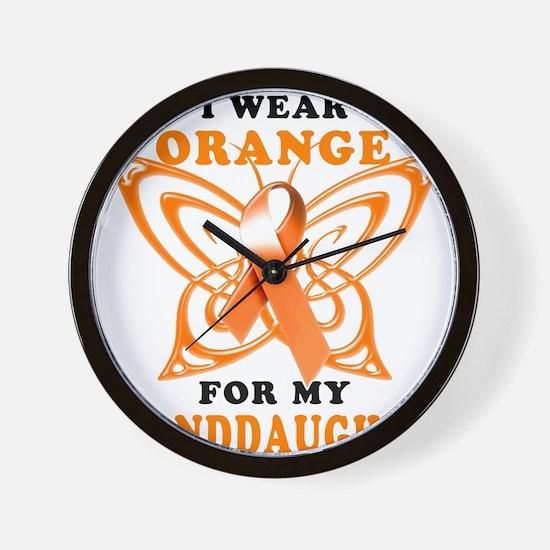 I Wear Orange for my Granddaughter Wall Clock