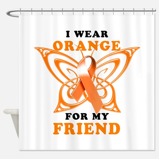 I Wear Orange for my Friend Shower Curtain