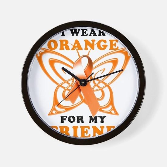 I Wear Orange for my Friend Wall Clock