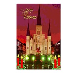 New Orleans Christmas Art Postcards (Package of 8)
