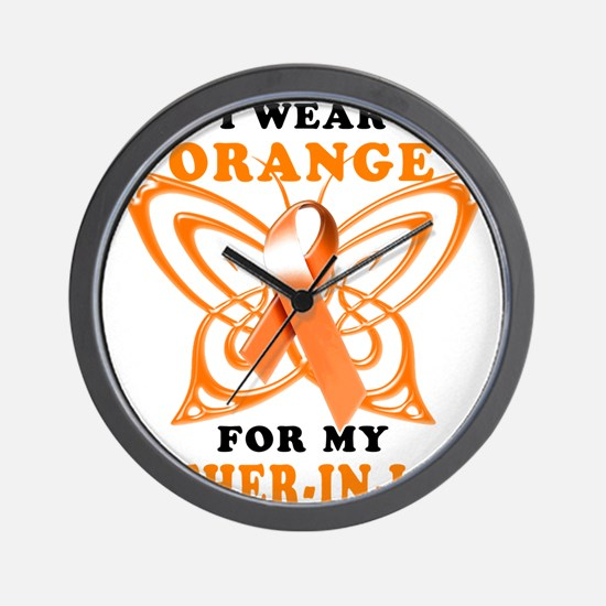 I Wear Orange for my Father in Law Wall Clock