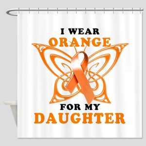 I Wear Orange for my Daughter Shower Curtain