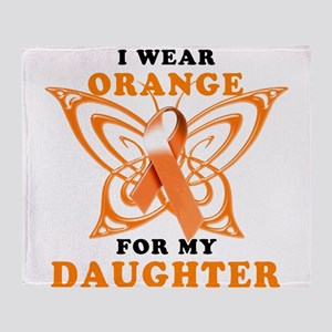 I Wear Orange for my Daughter Throw Blanket