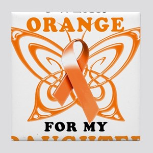I Wear Orange for my Daughter Tile Coaster
