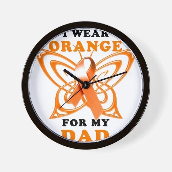 I Wear Orange for my Dad Wall Clock