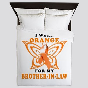 I Wear Orange for my Brother in Law Queen Duvet