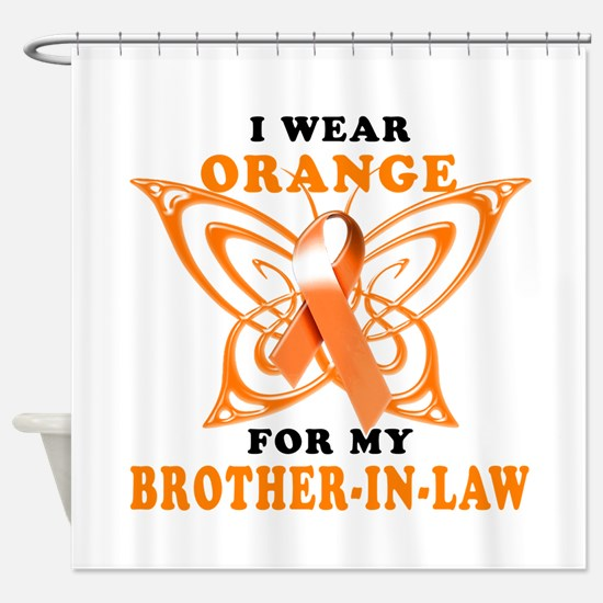 I Wear Orange for my Brother in Law Shower Curtain