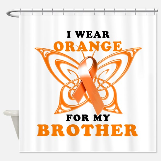 I Wear Orange for my Brother Shower Curtain