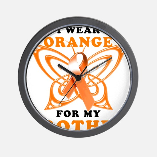 I Wear Orange for my Brother Wall Clock