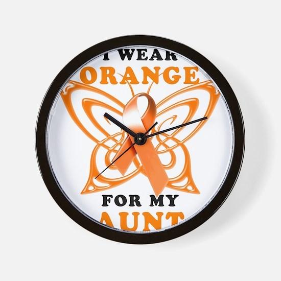 I Wear Orange for my Aunt Wall Clock