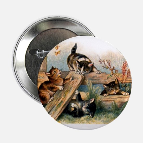 Victorian Cats Button