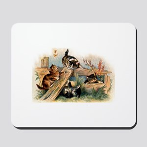 Victorian Cats Mousepad