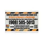 Christopher Construction t-shirt Rectangle Magnet
