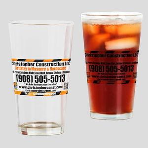 Christopher Construction t-shirt Drinking Glass
