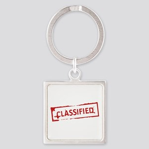 Classified Stamp Square Keychain